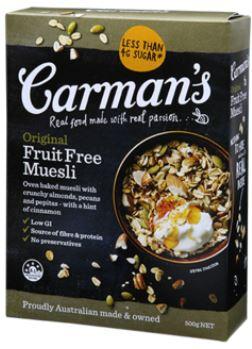 carmens fruit free muesli