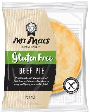 mrs mac gluten free meat pie